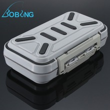 Bobing 16x9x4cm ABS Plastic Waterproof Fly Fishing Lure Spoon Bait Hook Storage Case Fishing Tackle Box(China)