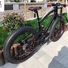 Kalosse Neve bike mountain bike freni Idraulici Grasso bicicletta, M310 24 velocità mountain bike 26*4.0 pneumatici(China)