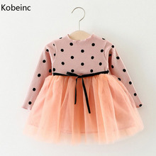 Buy Kobeinc New Dress Girl Spring Autumn Dot Mesh Children Vestidos Cute Casual Roupas Infantis Menina Baby Clothes 1-3Y for $9.93 in AliExpress store