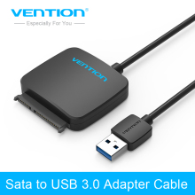 Vention Sata Adapter Cable USB 3.0 to Sata Converter 2.5 3.5 inch Super Speed Hard Disk Drive for HDD SSD USB 3.0 to Sata Cable(China)