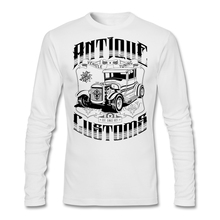 Screen Print Hot Rod - Antique Customs T-shirt Men Male Long Sleeve Cotton Custom Plus Size Lover Bottoming Shirts