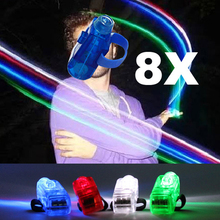 Hot Sell High Quality 8 Color LED Laser Finger Ring Lights Beam Torch Party Hot Sell Light-Up Toys For Children FL(China)