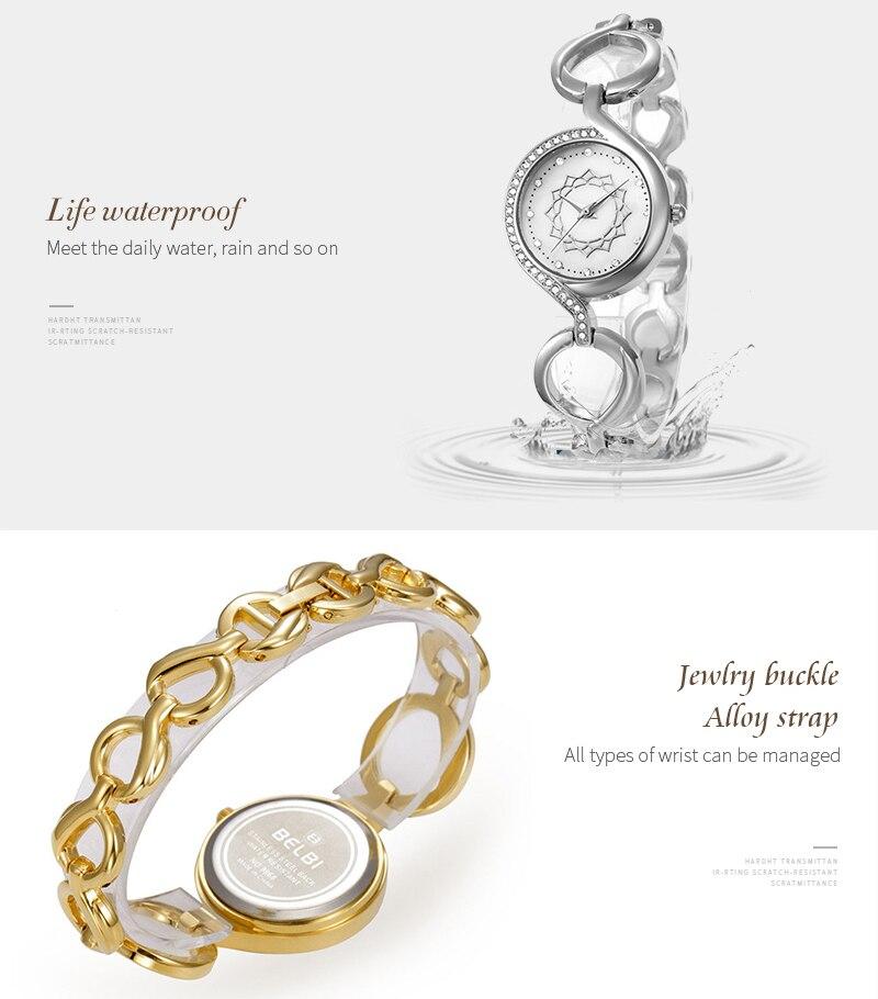 New Arrival BELBI Luxury Brand Chain Of Ring Watch Women Fashion Lady Casual Quartz Bracelet Wristwatches Relogio Feminino