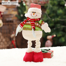 Christmas Dolls Santa Claus Toys For Child Christmas Decoration Long Leng Figurines Christmas Gift Navidad Decoraciones Para El