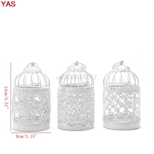 3 Types Metal White Holder Tealight Candlestick Hollow Hanging Lantern Bird Cage Vintage Wrought Candle Holders #H0VH#
