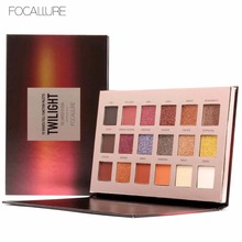 Hot 18 Colors High Pigments Waterproof Glitter Eyeshadow Palette Makeup Focallure Shimmer Matte Smoky Brand Eye Shadow Cosmetics