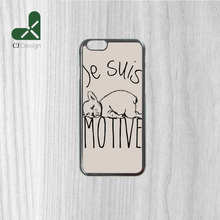 Authentic COQUE JE SUIS MOTIV Background Pattern Durable Mobile Accessories Protective Case for iphone 6 6s 6 6S Plus 4S 5S 5C(China)