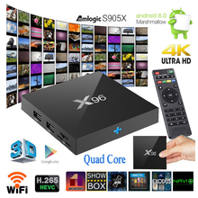 Buy MCBOSON X96 Smart TV BOX 2G/16G Amlogic S905X Quad-core Android 6.0 WIFI HDMI 2.0A KD Pre-installed 4K Media Player for $44.99 in AliExpress store
