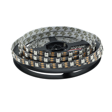 5M Black PCB 60led/m Non-Waterproof WS2812 2812 IC 5050 RGB LED Strip Light Dream Color DC 5V(China)