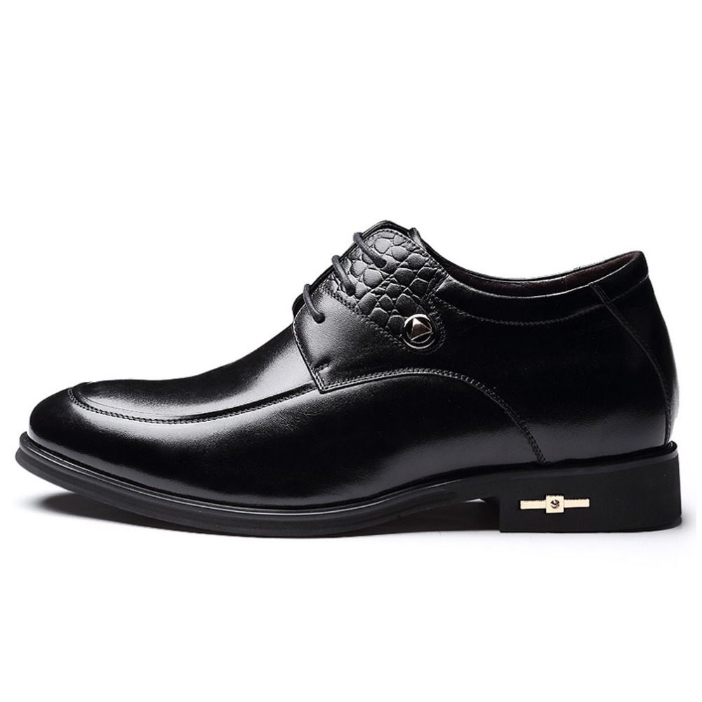 Calf Leather Height Increasing Oxford Shoes Man Business Formal Elevator Derby Shoes with Hidden Insoles Grow Wedding Taller 7cm<br><br>Aliexpress