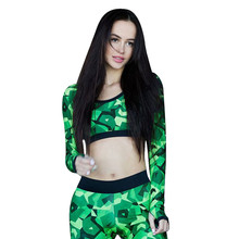 Women Fitness shirts Clothing Aerobics green sexy shirts Tops Blouse Sweatshot female Sweatshirt blusas mujer de moda camisetas(China)