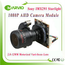 "1080P 2.1MP Startlight AHD-H 2.8-12mm Motorized Zoom Auto Focal Lens 1/2.8"" Sony IMX291 Sensor AHD CCTV Camera module board"
