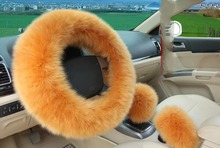 "6 Colors Steering Wheel Cover,Australian Merino Wool,15"" High Quality As a Graet Gift, Buy One Get 2 Small Sets For Free(China)"