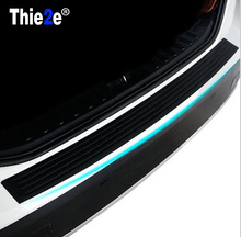 Car-Styling Rear Bumper Sill pedal Scuff Protective Stickers For FIAT 500 Tipo Punto Freemont Cross Coroma Panda Idea Palio