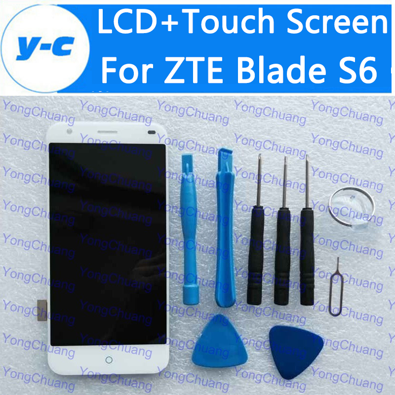 For ZTE Blade S6 LCD+Touch Screen New Display Digitizer Glass Panel Assembly Replacement For ZTE S6 1280x720 HD 5.0 Inch<br><br>Aliexpress