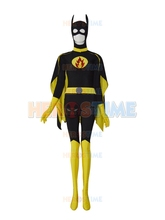Batgirl Design Custom Symbol Superhero Costume the most popular halloween cosplay party spandex Batgirl costume(China)