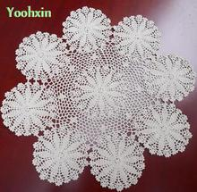 Modern Cotton Crochet tablecloth white Table cloth Handmade lace round kitchen Table Cover Mantel nappe Christmas wedding decor