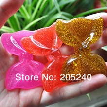 10pcs/Lot Mix Colors Bow Shape Flat Back Resin Cabochons Cute Botoes De Resina Cora Resin For DIY Phone Decoration(China)