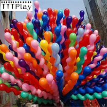 10pcs/lot 36inch Screw Thread Latex Balloons Inflatable Long Air Balls Wedding Decoration Happy Birthday Party Balloons Supplies(China)