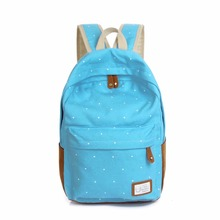Fashion Unisex Dot Printing Backpack School Book Backpacks Shoulder Bag Casual Stylish(China)