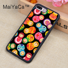 MaiYaCa Russian Dolls Matriochkas Patterns Case For iPhone 8 Plus Coque TPU Phone Back Cover For iPhone 8Plus Bags Skin Cover