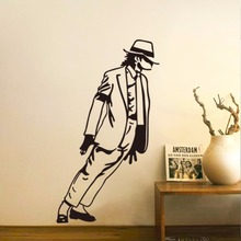 The Fashion Trends Home Decorations Michael Jackson Space Dance Wall Stickers Living Room Bedroom Wall Stickers For Music Theme