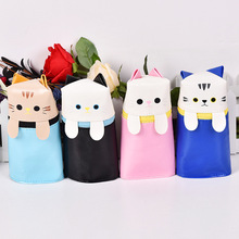 Cartoon Cat Pencil Cases Cute Animal Kawaii Pencil Bag Box Girls Kids Creative gift School Supplies Stationery Store