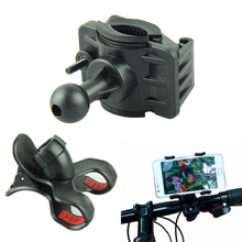 Top Quality 2016 Newest Bike Bicycle Cell Phone Mount Holder For iPhone For Samsung Ect Universal Phone PDA GPS Holder Black(China)