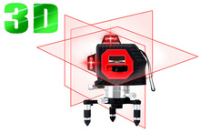 12 line laser level 360 3D Laser Level Self-leveling Cross Line Red Beam,can be customized LOGO Measuring Tools