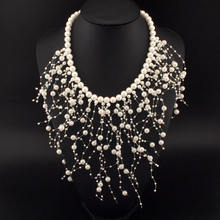 Fashion Beads Collar Necklace For Women New Wedding Accessories Releasing Simulated Pearl Necklaces Statement Jewelry #1998(China)