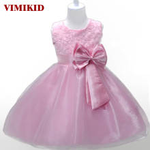 Princess Flower Girl Dress Summer 2017 Tutu Wedding Birthday Party Dresses For Girls Children's Costume Teenager Prom Designs(China)