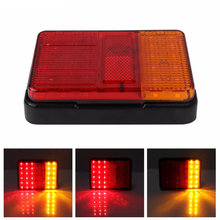 30LED LED Taillights Red Yellow Rear Tail Light Lamp DC 12V For Trailer Truck Boat UTE Car Styling Warning Light