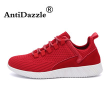 Antidazzle Top Popular Fly Woven Flat Sport Running Shoes Men's Flats Lace Up Air Sneakers Athletic shoes Male Sapato Masculino(China)