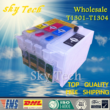 10 sets wholesale Empty refill cartridges for BX525WD BX625FWD SX525WD SX620FW , suit for T1301 T1302 T1303 T1304 with ARC chips<br><br>Aliexpress