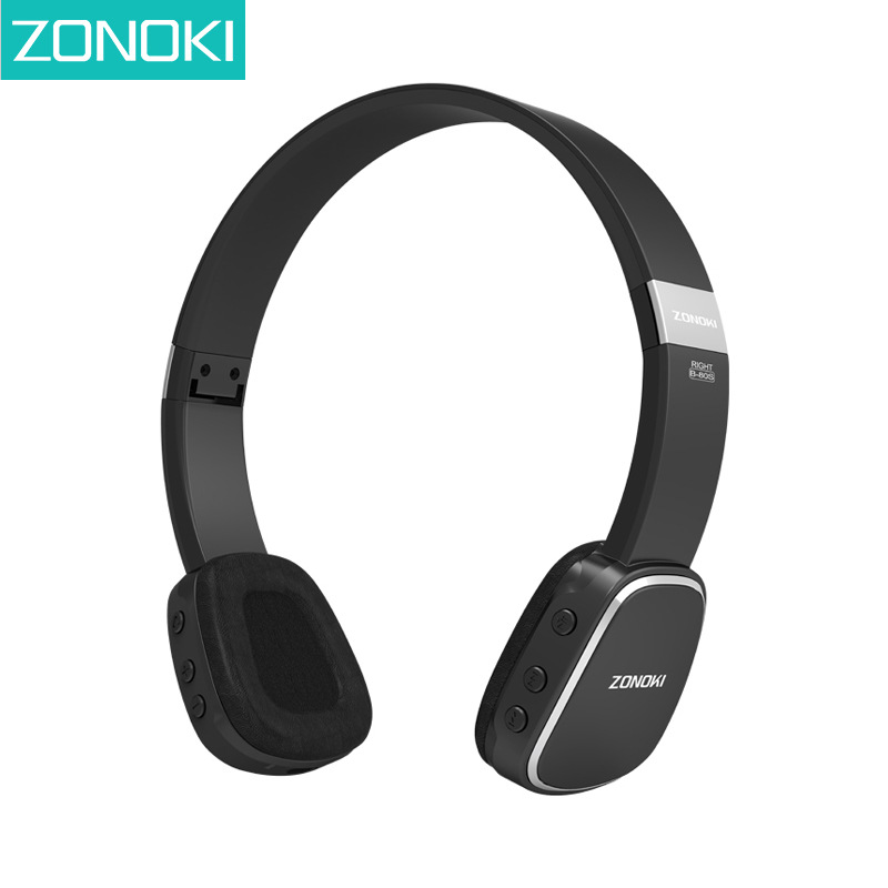 Zonoki B80S Bluetooth Earphone Headphone BT4.1 Stereo Hifi Over-ear Headphones Wireless Foldable Headset Auriculares Mic NFC<br>