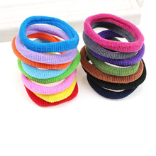 Fashion 85pcs/bag Women Hair accessories Hair Ties Elastic Hair Bands Ladies Black Hairbands Mix Color