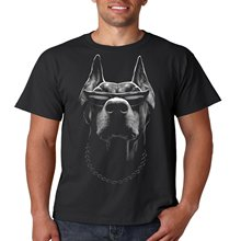 Men's T-shirts Summer Style Fashion Swag Men T Shirts. Cool Biker T Shirt Doberman Big Dog Sunglasses Mens Tee S-5xl