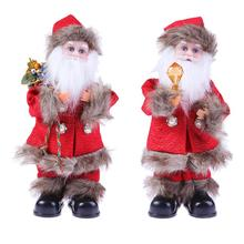Christmas Electric Santa Claus Doll Toy Dancing Singing Toy for Kids Christmas Decorations for Home Christmas Tree Ornaments(China)