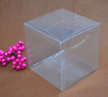 Qin.01.12/14*14*14 Poly Packing Boxes Clear Plastic PVC Box For transparent Birthday Gift Candy Package Boxes