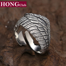 New Personalized ring opening eagle wings 100% 925 sterling silver for men or women wedding ring fashion fine jewelry GR12