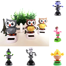 Cute Solar Power Toys Office Desk Home Car Decor Animal Auto Accessories