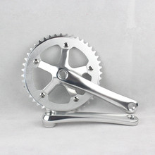 Single speed CNC 44T*170mm 6061-T6 aluminum alloy chainring Crank chainwheel fixie crankset fixed gear folding bike crankset(China)