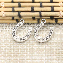Buy 10pcs Charms lucky horseshoe horse 15*12mm Tibetan Silver Plated Pendants Antique Jewelry Making DIY Handmade Craft for $1.16 in AliExpress store