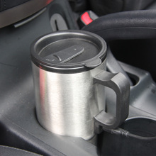 Car Style 450ml 12V Auto Car Heating Cup Stainless Steel Coffe Tea Water Heater Cigarette Lighter Adapter for Cars T16368(China)