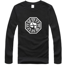 American TV Series LOST Dharma Initiative T Shirt Men Fitness Cotton Long Sleeve T-shirt Tops Tee shirt Camisetas Masculinas(China)