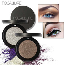 Focallure 2018 Cheap Shimmer Glitter Eyes Eyeshadow Powder Pigment Waterproof Matte Purple Golden Silver Color Eye Shadow Makeup(China)