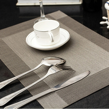2 pcs/lot 45X30 cm Fashion place mat PVC dining table mat Table placemats for table decoration accessories(China)
