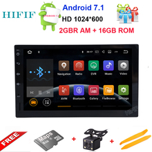 HIFIF 7 inch 2 Din Android 7.1 Car Player Audio Stereo For Universal Gps Navigation Steering-Wheel 2Din Radio Recorder Wifi Map(China)