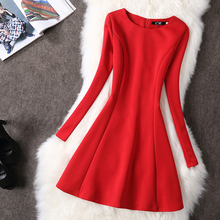 Buy Plus Size 4XL 2016 Autumn Winter Women Dress Long Sleeve vintage Elegant Party Dresses red black long vestidos office dress for $17.78 in AliExpress store