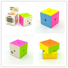 1 Pcs 5 Cm New YongJun JY Yupo 2x2x2 Easy Play Magic Cube Speed Puzzle Pink Colorful Cubes Toys for Kids  Gift with Retail Box